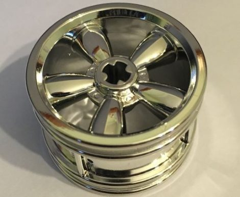 42716 Chrome Silver Wheel 30.4mm D. x 20mm with No Pin Holes and 5 Large Spokes  42716 Custom Chromed by BUBUL