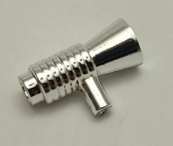 Chrome Silver Minifig, Utensil Loudhailer / Megaphone / SW Blaster  4349 Custom chromed by Bubul