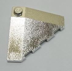 Chrome Silver Wedge 4 x 4 (Slope 18 Corner)  43708 Custom Chromed by BUBUL