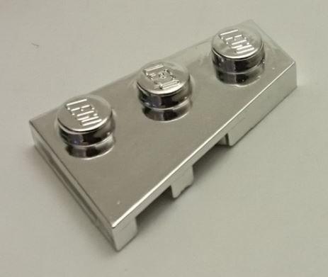 Chrome Silver Wedge, Plate 3 x 2 Right   43722  Custom chromed by Bubul