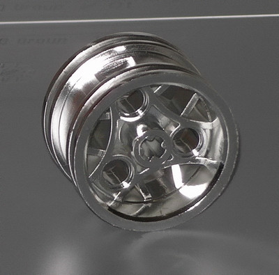 Chrome Silver Wheel 30.4mm D. x 20mm with 3 Pin Holes   Part:44292  chromed by Bubul