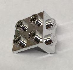 Chrome Silver Bracket 1 x 2 - 2 x 2  44728 or  92411 or 21712 Custom Chromed by BUBUL
