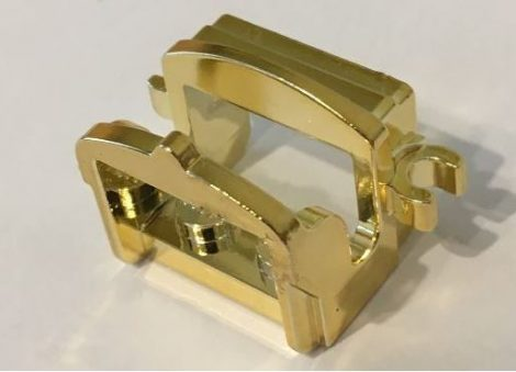 Chrome Gold Horse Saddle with Two Clips Original LEGO(R) Part:4491b Custom Chromed by BUBUL