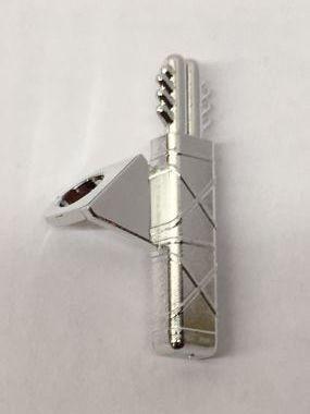 4498 Chrome Silver Minifig, Arrow Quiver   4498 Custom chromed by Bubul