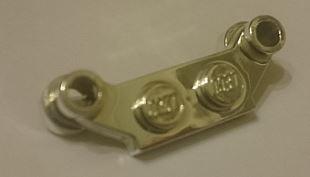 Chrome Silver Plate, Modified 1 x 4 Offset  4590 Custom Chromed by BUBUL