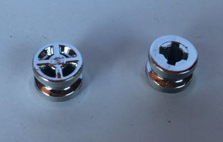 Chrome Silver Wheel 8mm D. x 6mm  4624 Custom Chromed By BUBUL
