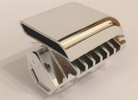 Chrome Silver Technic Engine Tuneable, Block with Trapezoidal Air Scoop (for part 2133)  Part: 46453 Custom chromed by BUBUL