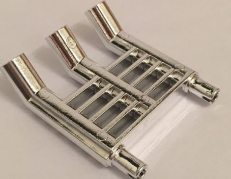 Chrome Silver Technic Engine Tuneable, Triple Exhaust (for part 2133)  Part: 46456 Custom chromed by BUBUL