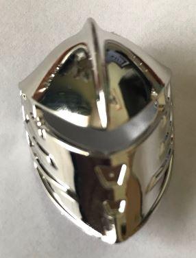 Chrome Silver Large Figure Visor, Jayko  47471 Custom Chromed By BUBUL