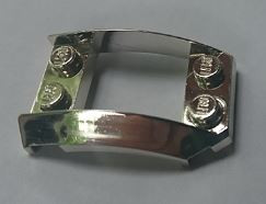 47755 Chrome Silver Wedge 4 x 3 Open with Cutout and 4 Studs  47755 Custom Chromed by BUBUL