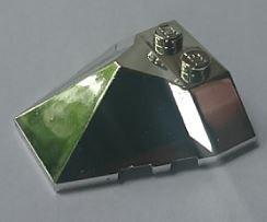 Chrome Silver Wedge 4 x 4 Pyramid Center  47757 Custom Chromed by BUBUL
