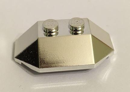 Chrome Silver Wedge 2 x 4 Triple  47759 Custom Chromed by BUBUL