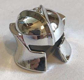 48493 Chrome Silver Minifig, Headgear Helmet Castle with Cheek Protection Angled   Part: 48493 Custom chromed by Bubul