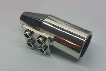 4868b_S Chrome Silver Engine, Smooth Large, 2 x 2 Thin Top Plate   Part: 4868 4868b  Exhaust Custom Chromed by Bubul
