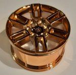 49294 Chrome Copper Wheel 56mm D. x 34mm Technic Racing Medium, 6 Pin Holes, Axle Hole, Open Spokes Custom Chromed by Bubul