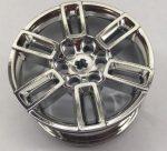 49294 Chrome Silver Wheel 56mm D. x 34mm Technic Racing Medium, 6 Pin Holes, Axle Hole, Open Spokes Custom Chromed by Bubul