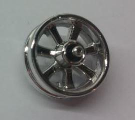 Chrome Silver Wheel 15mm D. x 6mm City Motorcycle  50862 Custom Chromed by BUBUL