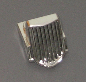 Chrome Silver Vehicle, Grille 1 x 2 x 2 2 3 Sloping   Part:50946  chromed by Bubul