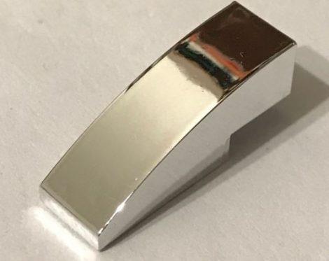 50950_Chrome Silver Slope, Curved 3 x 1 No Studs  50950 Custom chromed by Bubul