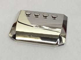 Chrome Silver Wedge 4 x 6 x 2/3 Triple Curved  Part: 52031 Custom chromed by Bubul