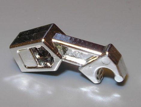 Chrome Silver Arm Mechanical, Exo-Force / Bionicle Part:53989 chromed by Bubul