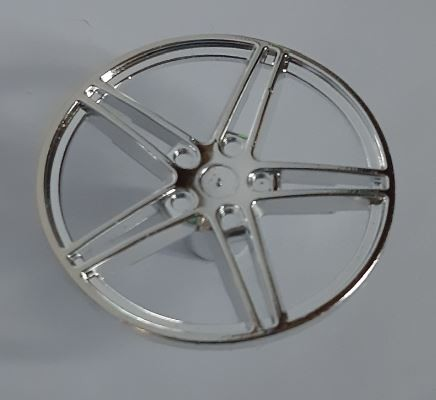 54086_Chrome Silver Wheel Cover 5 Spoke without Center Stud - 35mm D. - for Wheels 54087, 56145 or 44292    54086  Chromed by Bubul