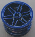 56145 Chrome BLUE Wheel 30.4mm D. x 20mm with No Pin Holes and Reinforced Rim Custom Chromed by BUBUL