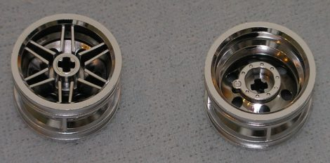 56145 Chrome Silver Wheel 30.4mm D. x 20mm with No Pin Holes and Reinforced Rim  Part:56145 chromed by Bubul