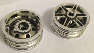 Chrome Silver Wheel 30mm D. x 14mm (for Tire 43.2 x 14)   56904  Custom Chromed by BUBUL