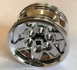 56908 Chrome Silver Wheel 43.2mm D. x 26mm Technic Racing Small, 6 Pin Holes similar than 41896  or 51488  Custom chromed by Bubul
