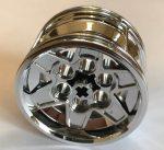 56908 Chrome Silver Wheel 43.2mm D. x 26mm Technic Racing Small, 6 Pin Holes similar than 41896  or 51488  Custom chromed by Bubul