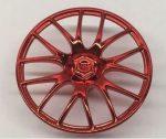 58089 Chrome RED Wheel Cover 7 Spoke V Shape - 36mm D. Original Lego part: 58089 Custom Chromed by BUBUL