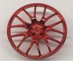 58089 Chrome RED Wheel Cover 7 Spoke V Shape - 36mm D. Original part: 58089 Custom Chromed by BUBUL