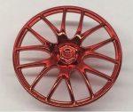 58089 Chrome RED Wheel Cover 7 Spoke V Shape - 36mm D. Original part: 58089 Custom Chromed by BUBUL