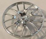 Chrome Silver Wheel Cover 7 Spoke V Shape - 36mm D.  58089 Custom Chromed by BUBUL