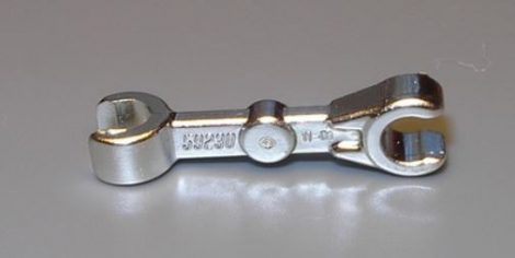 Chrome Silver Arm Mechanical, Straight with Clips at 90 degrees (Vertical Grip)  Part:59230 chromed by Bubul