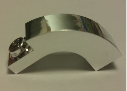 Chrome Silver Brick, Arch 1 x 3 x 2 Curved Top   6005  Custom chromed by Bubul