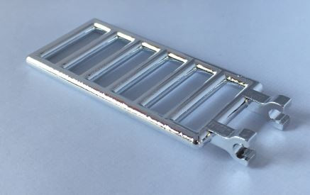 Chrome Silver Bar 7 x 3 with Double Clips (Ladder)  6020 Custom Chromed by BUBUL