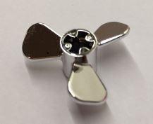 Chrome Silver Propeller 3 Blade 3 Diameter  6041  Custom Chromed by BUBUL