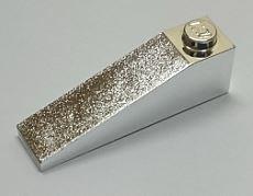 Chrome Silver Slope 18 4 x 1  60477 Custom Chromed by BUBUL