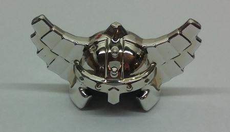 Chrome Silver Minifig, Headgear Helmet with Wings   60747  Custom Chromed by Bubul