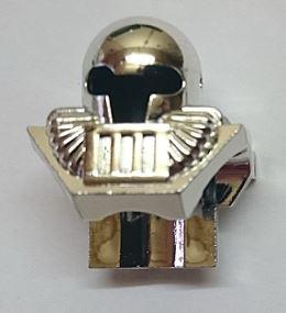 Chrome Silver Minifig, Headgear Helmet Underwater Aquashark  6089 Custom Chromed by BUBUL