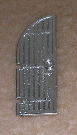 Chrome Silver Door 1 x 4 x 8 Curved Top Part:6105 Custom chromed by BUBUL