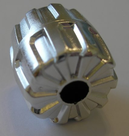 Chrome Silver Wheel Hard Plastic Small (22mm D. x 24mm)   Part:6118  Custom Chromed by Bubul