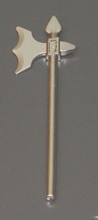 Chrome Silver Minifig, Weapon Halberd Elaborate  Part:6123  chromed by Bubul