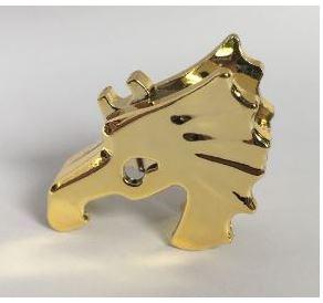 Chrome Gold Horse Battle Helmet  Original Lego part: 6125  Custom Chromed by BUBUL