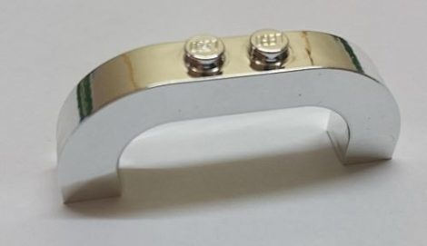 Chrome Silver Brick, Arch 1 x 6 x 2 Curved Top  6183 Custom Chromed by BUBUL