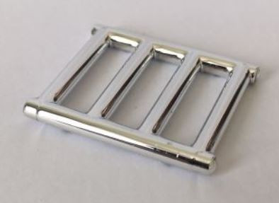 Chrome Silver Bar 1 x 4 x 3 with End Protrusions  62113 Custom Chromed by BUBUL