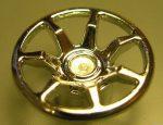 Chrome Silver Wheel Cover 7 Spoke - 18mm D. - for Wheel 55982  62359 Custom chromed by Bubul