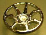 Chrome Silver Wheel Cover 7 Spoke - 18mm D. - for Wheel 55982  62359 Custom chromed by Bubul